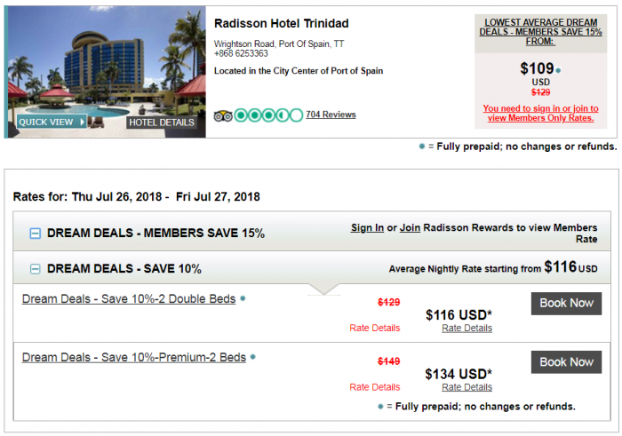 Radisson Rewards Summer 2018 Dream Deals Radisson Trinidad