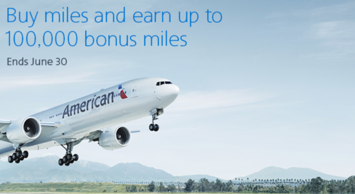 American Airlines Buy AAdvantage Miles June 2018 Campaign