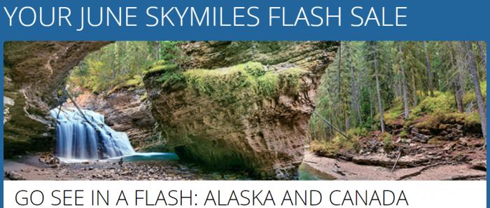 Delta SkyMiles June 2018 Award Flash Sale