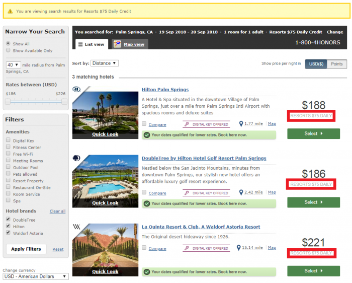 Hilton Honors Daily Credit Deal Rate Search