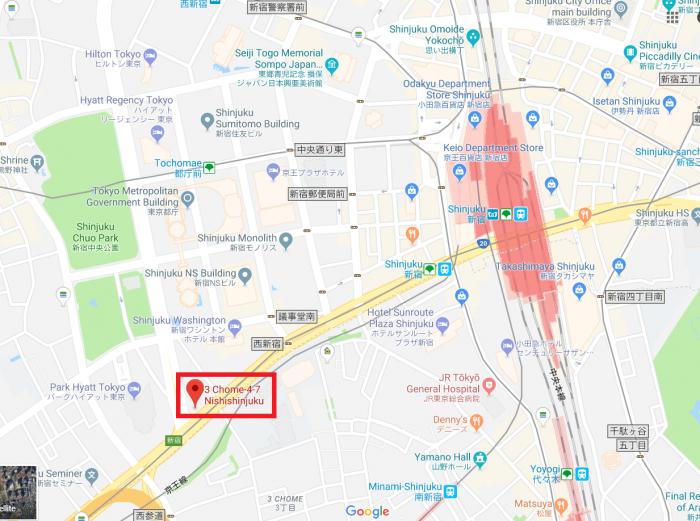 Kimpton Shinjuku Location