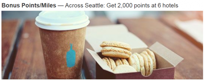 Marriott Rewards Seattle 2000 Bonus Points Fall 2018