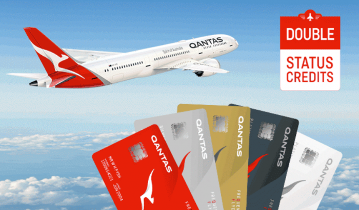Qantas Double Status Credits August 2018