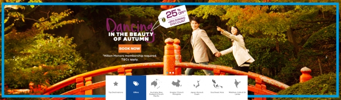 Hilton Honors Japan Korea Guam Fall 2018 Sale