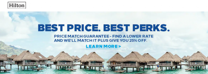 Hilton Honors Price Match Guarantee
