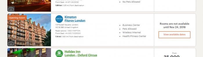 IHG Rewards Club Kimpton Fitzroy London