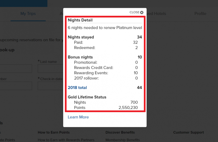 Marriott Rewards Lifetime Points Old Interface Shows