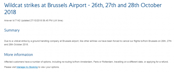 Avia Partners Strike Brussels BA