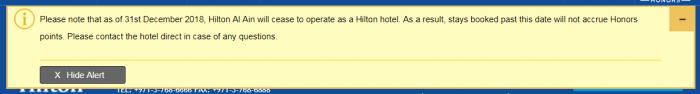 Hilton Al Ain Note