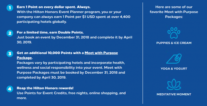 Hilton Honors Meeting Planner Promo Americas Fall 2018 Info