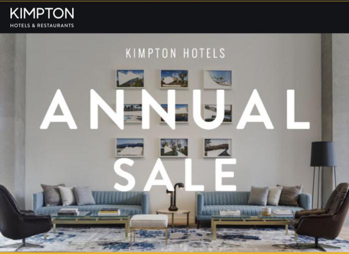 IHG Rewards Club Kimpton Semi Annual Sale Fall 2018 U