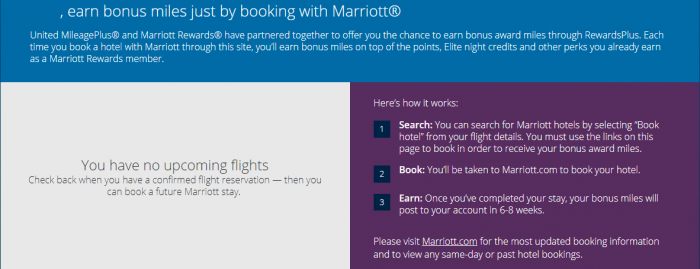 United Airlines MileagePlus Marriott Rewards Text