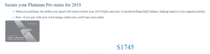 American Airlines AAdvantage Elite Status Extension Offer Pro