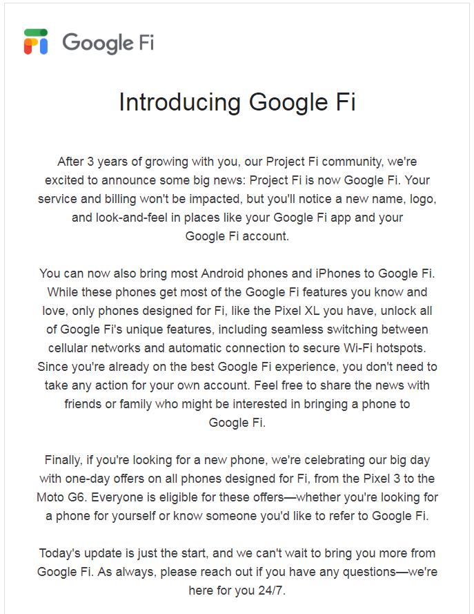 Google Fi Announcement