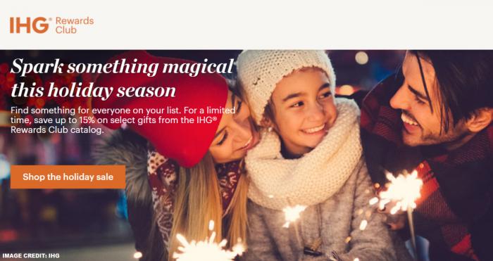 IHG Rewards Holiday Merchandise Sale