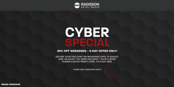 Radisson Rewards Cyber Sale 2018