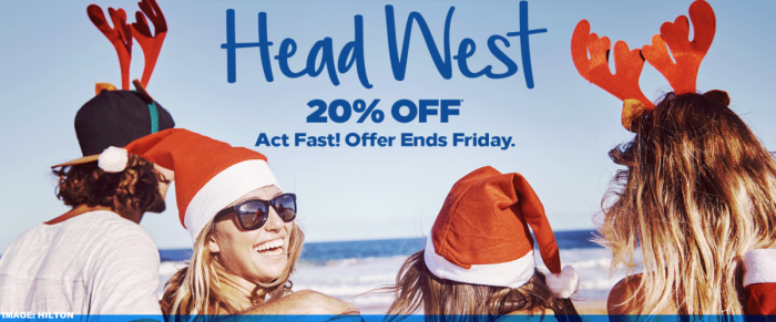 Hilton Honors America West 20% Off