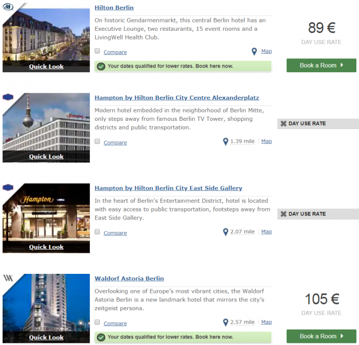 Hilton Honors Cheap Rates Search Berlin