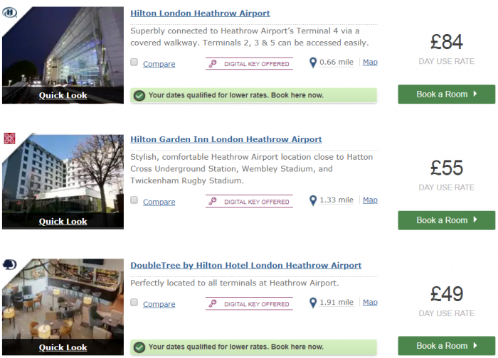 Hilton Honors Cheap Rates Search LHR