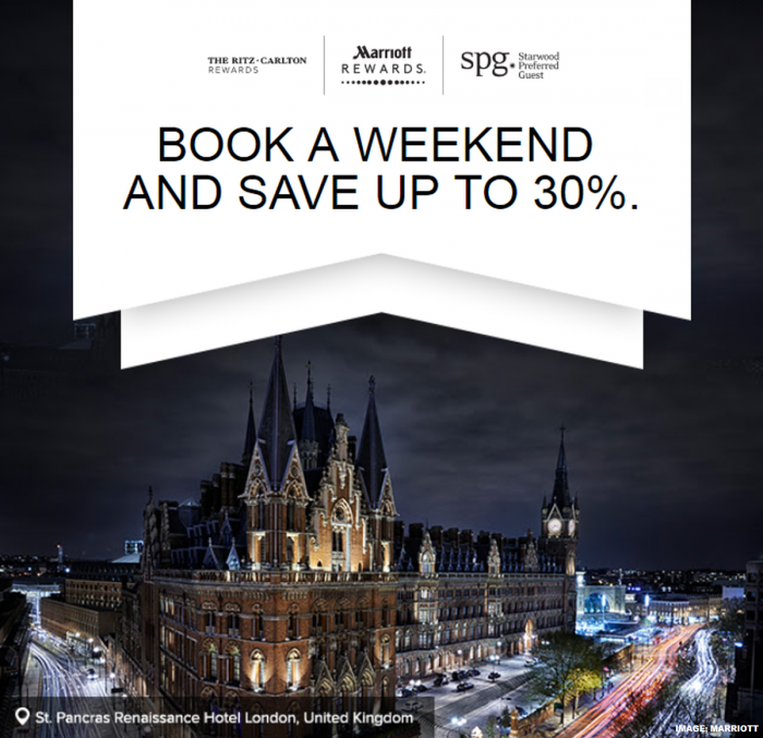 Marriott Rewards & SPG Europe Weekends Sale