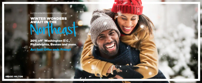 Hilton Honors Eastern US Winter Offer