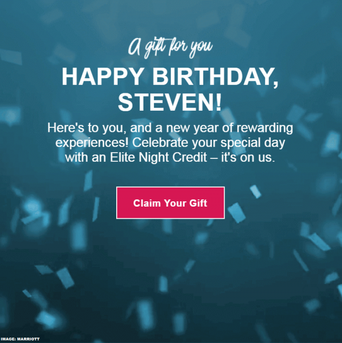 Marriott Rewards Birthday Elite Night Credit 2019