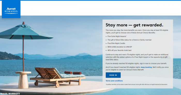 Marriott Rewards Choice Benefit