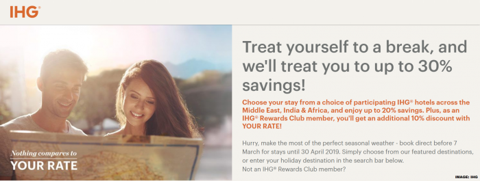 IHG Rewards Club Middle East India & Africa Sale