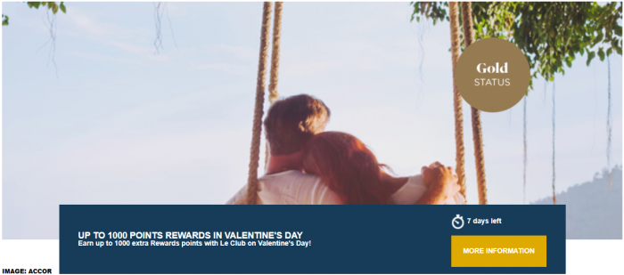 Le Club AccorHotels South America Valentines