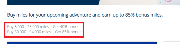 United Airlines MileagePlus Buy Miles February 2019 Bonus