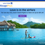 United Airlines MileagePlus French Polynesia Offer