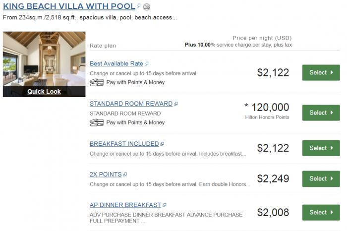 Waldorf Astoria Maldives Price King Beach Villa