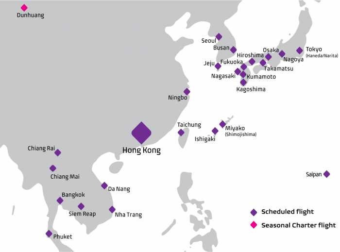 Hong Kong Express Route Map