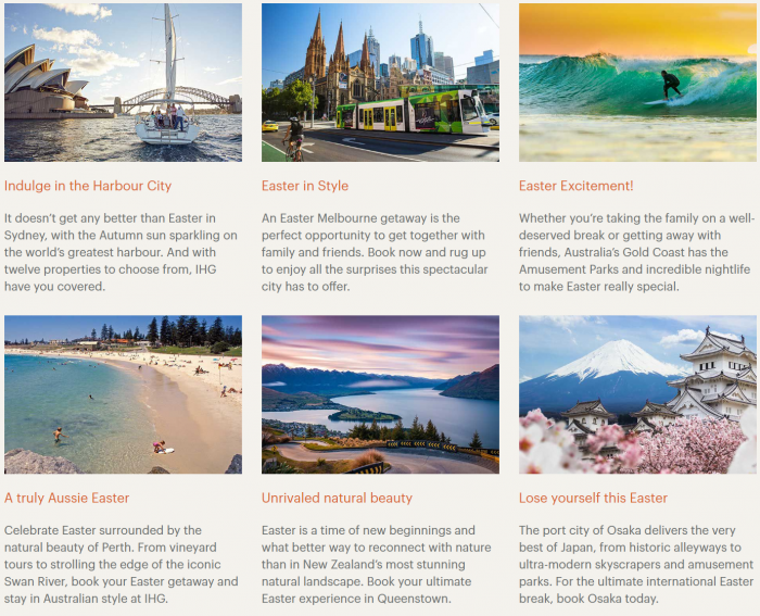 IHG Rewards Club Australasia & Japan Sale Spring 2019 Destination