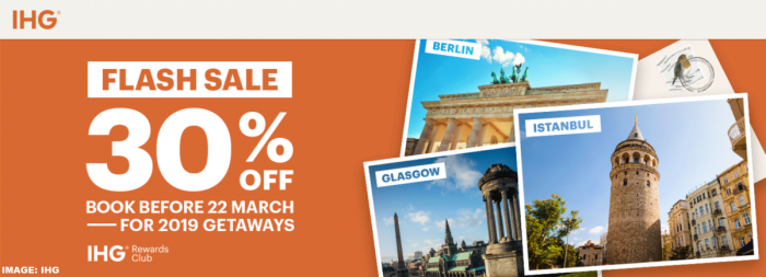 IHG Rewards Club Europe Flash Sale March 2019
