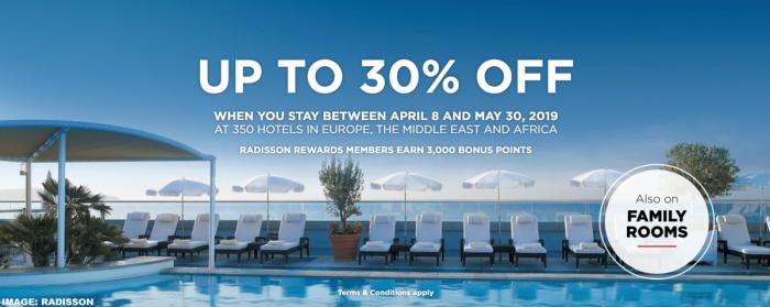 Radisson Rewards Spring Sale 2019