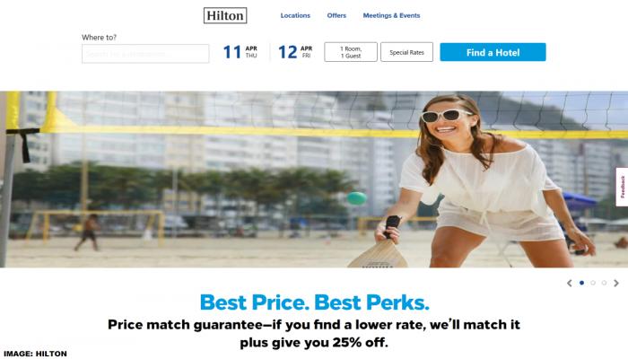 Hilton New Website