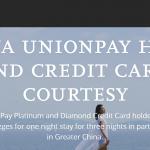 Hyatt UnionPay Offer