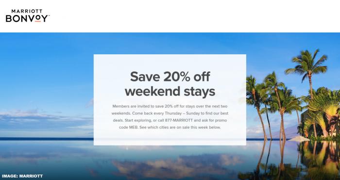 Marriott Bonvoy Last Minute Hotel Deals April 3, 2019