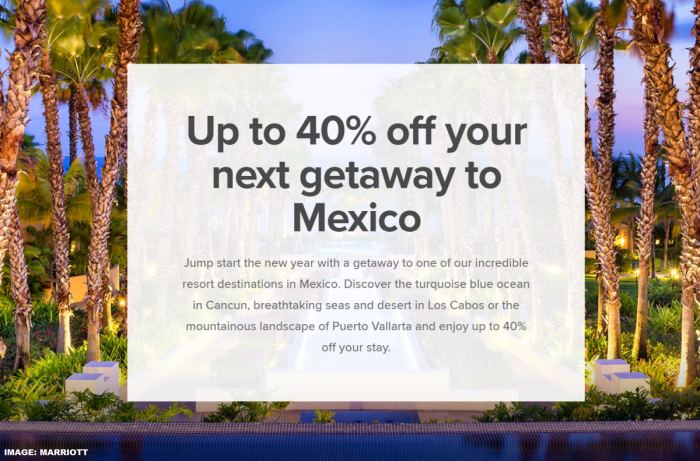 Marriott Bonvoy Mexico Sale