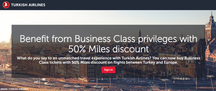 Turkish Airlines Miles&Smiles Award Discount