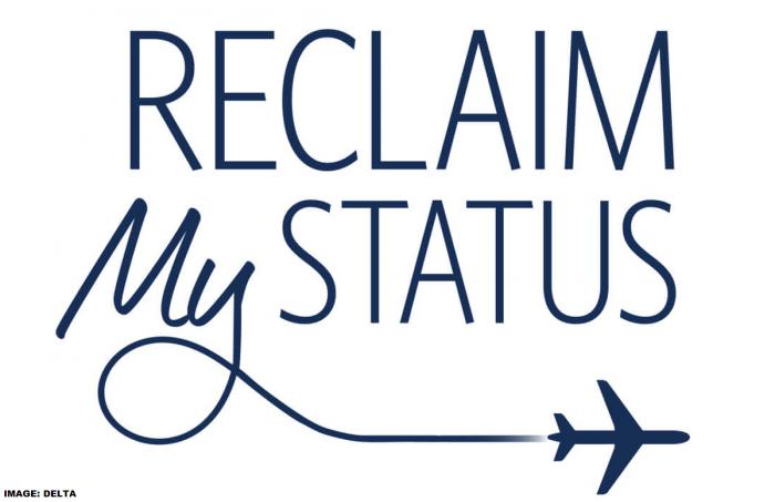 Delta Air Lines SkyMiles Reclaim My Status