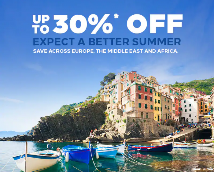Hilton Honors Europe Middle East Africa Summer Weekends Sale 2019