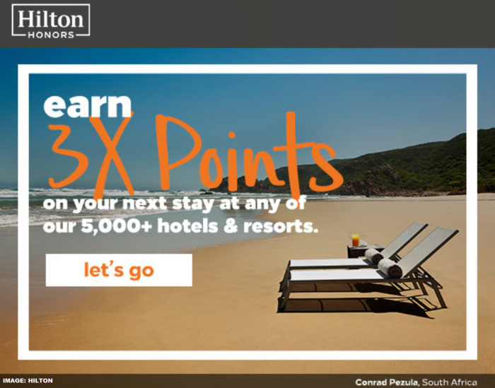 Hilton Honors Triple Bonus Points 2019