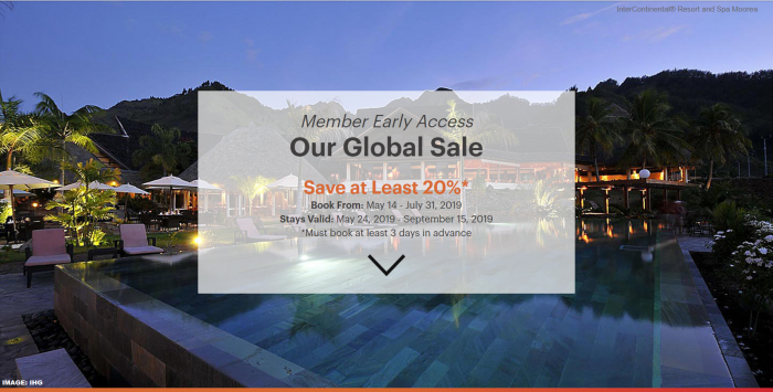 IHG Rewards Club Global Sale Summer 2019