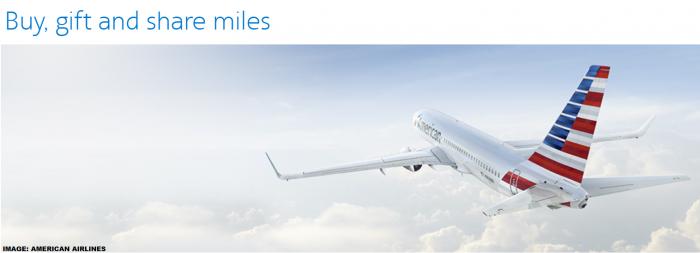 American Airlines AAdvantage Buy & Gift Miles June 2019