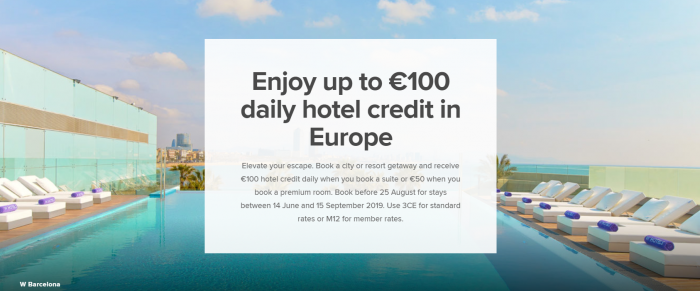 Marriott Bonvoy Europe Summer Offers 2019 Hotel Credit