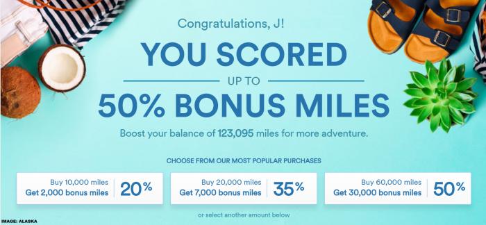 Alaska Airlines Mileage Plan Buy Miles July 2019