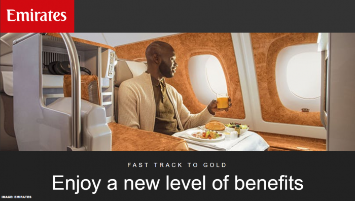 Emirates Skywards Gold Fast Track