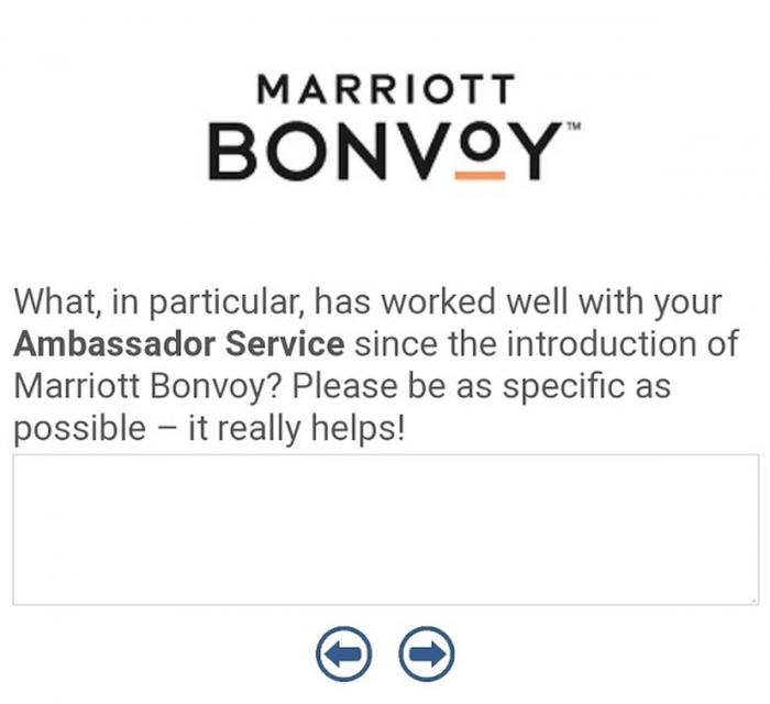 Marriott Bonvoy Ambassador Survey Screen 4